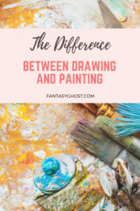 What is the difference between drawing and painting?